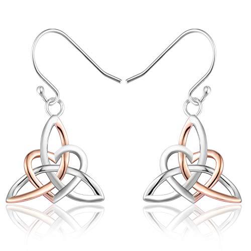 Celtic Knot Earrings Irish Triquetra Trinity Heart Hook Earrings Christmas/Birthday Gift For Women Girls