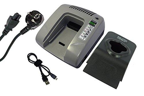 PowerSmart® Cargador rápido para Makita CC300D, CC300DWE, CC300DZ, CL100D, CL100DW, CL100DWX, CL100DZ, CL100DZX, CL102D, CL102DW, CL102DZ, CL102DZX, DF030D, DF030DFE, DF030DWE DWX (gris)