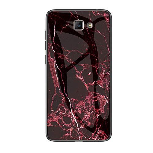 MadBee Funda para Samsung Galaxy J7 Prime [con Protector de Pantalla],9H Cristal Templado [Mármol] [Resistente a los Arañazos] + Borde de TPU Silicona Suave Fundas Case Cover (Mármol 6)