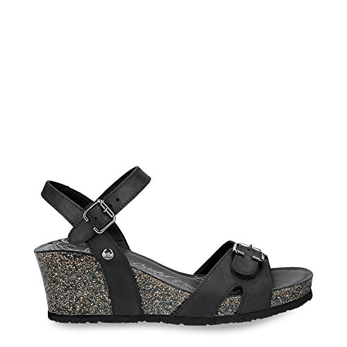 Panama Jack Valentine Basics B1 - dames schoenen sandaletten - napa-grass-negro
