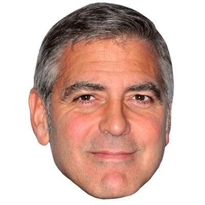Celebrity Cutouts George Clooney Maske aus Karton