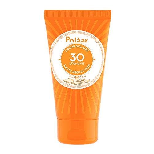 Polåar - Crème Solaire Haute Protection Spf30 UVA UVB 50ml - Crème Solaire Protectrice Visage - Soin adapté aux peaux sensibles - Sans traces blanches - Beauté - Made in France