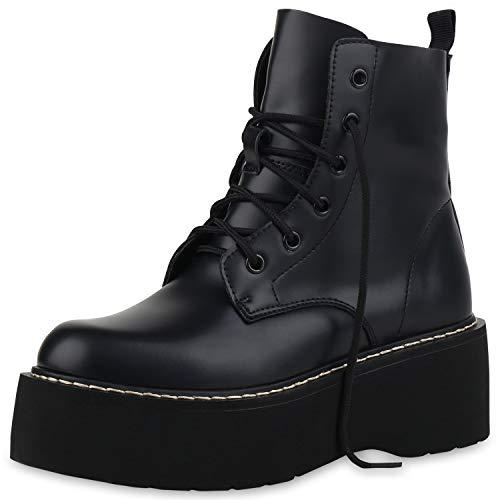SCARPE VITA Dames Laarzen Plateau Laarzen Makkelijk Gevoerde Boots-Met-Veters Pruik Schoenen Veters Wedges Boots-Met-Veters Plateauzolen
