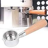 Portafiltro sin fondo de café, mango de filtro sin fondo de acero inoxidable de 3 orejas de 51 mm apto para la máquina de café de la serie Delonghi para el hogar, la oficina y la cafetería