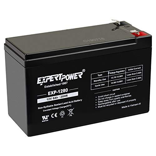ExpertPower 12V 8AH Sealed Lead Acid (SLA) Battery Replacement for APC Back-UPS ES 550VA Back-UPS Pro 1300/1500 Liftmaster CSL-24VDC Slider Gate Opene - F2 Terminals