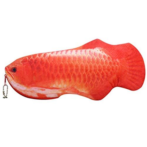 SHYPT La Forma de Pescado diseño Multifuncional de Escritorio Lápiz viaja de la Bolsa Bolsa de Cosméticos (Color : A)