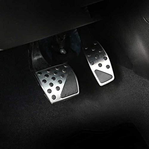HJPOQZ Auto Gaspedal Bremspedal Kupplung Pedal Pad rutschfeste Abdeckung, fit für Jeep Compass 2017 2018 Renegade 2015 2016 2017 2018
