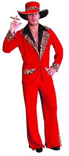 Foxxeo Traje de proxeneta de pap Rojo, Talla: M-L