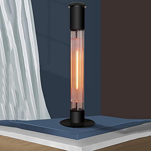 Calefactor De Terraza 1500W Estufa De Exteriores Calentador De Jardín Calefactor De Carbono Infrarrojos 1500 W Protección contra Salpícaduras