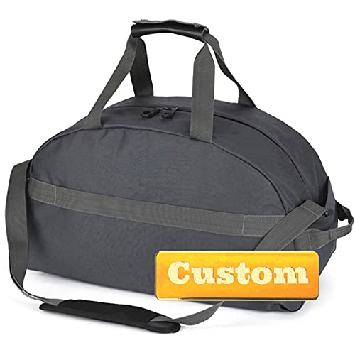 Borsa da Viaggio Nome personalizzato Imballabile for il viaggio di borsone in nylon extra large da viaggio Camping Waterproof Camp Duffle Bag Borsa a spalla del fine settimana