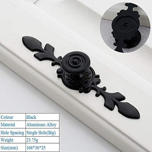 XCVB Ladehandvat Zwart Aluminium Deurgrepen Garderobe Lade Trek Keukenkast Knoppen Voor Meubels Handvat Hardware Accessoires, 9036 Groot