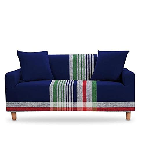 Multi-color barra rejilla sofá cubierta estiramiento sofá fundas para sala de estar sofá elástico silla cubierta sofá toalla 2 asientos