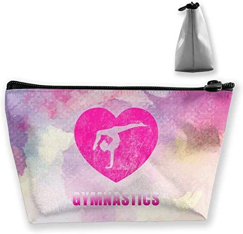 Love Gymnastics Kosmetiktasche, tragbar, für Reisen, Kulturbeutel, Make-up-Tasche (Trapez)