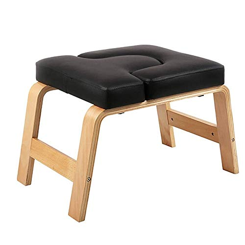 Affordable Yuehjnba Yoga Upside Down Stool Inversion Benches Yoga Inversion Chair PU Leather Yoga As...
