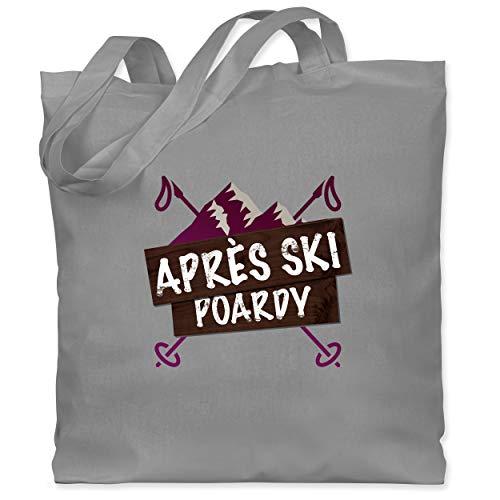 Après Ski - Apres Ski Poardy - Unisize - Hellgrau - Ski - WM101 - Stoffbeutel aus Baumwolle Jutebeutel lange Henkel