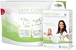 Ardo Easy Clean - Multi-use Microwave Steam Cleaning Bags for Breastfeeding Accessories, 5 Bags (100 Cleaning Cycles Total)