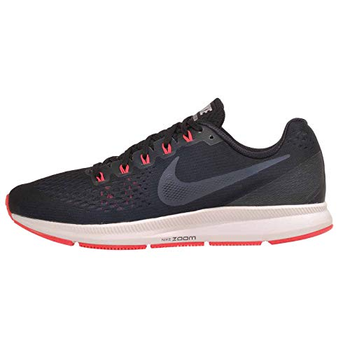 Nike Men's Air Zoom Pegasus 34 Running Shoe (Black/Armory Navy-Red Orbit, 11.5 M US)