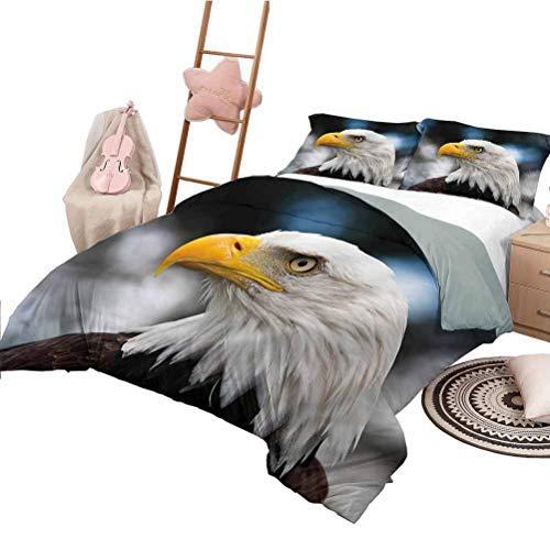 Juego de colchas de 3 Piezas, tamaño Completo, Eagle, Suave, para Todas Las Estaciones, Colcha de Mezcla de algodón Freedom Estados Unidos