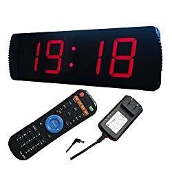 Ledgital Countdown Clock, Digital Wall Clock with Remote Wall Mount Countdown/up Timer in Minutes Seconds - Five Levels Brightness Dimmable, Indoor USE ONLY