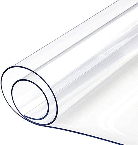 Genomskinlig PVC-bordsduk, genomskinlig stolmatta hård golvmatta, bordsskydd, mattskydd halkfri slitstark trägolv skydd transparent bordsduk 1,5 mm (40 x 170 cm/15,75 x 66,93 tum)