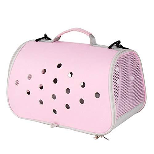 Aida Bz Pet Bag Portable Teddy Chien Bain Chat Sac Sortie Chat Cage Petit Voyage Chat Sac à Dos Pet Supplies,Pink