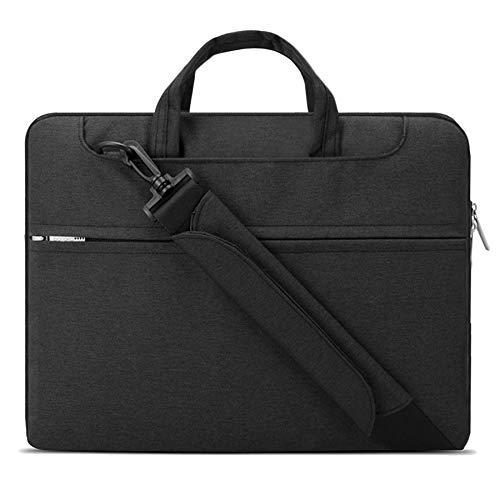 Lacdo 15 Inch Laptop Shoulder Bag Sleeve Case for 16-inch New MacBook Pro A2141/15.4' Old MacBook Pro/15 inch New MacBook Pro 2016-2019/15' Surface Book 3 2/MateBook D 15 Protective Notebook Bag,Black