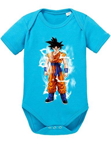 Goku Blitz Baby Strampler Body Dragon Master Son Ball Vegeta Turtle Roshi Db, Größe:62;Farbe:Türkis