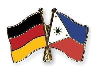 Emblems-Gifts Germany & Philippinen Freundschaft Flaggen vergoldet Emaille Pin-Anstecker