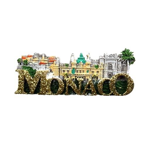 Monaco Castle Royal Palace Refrigerator Magnet Souvenir Gift 3D Resin Home Kitchen Decoration Magnetic Sticker Fridge Magnet