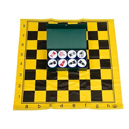 QIFFIY Ajedrez portátil de tela suave ajedrez, juego de ajedrez, juego de ajedrez magnético, para enseñanza al aire libre, juegos de ajedrez (color : tela de ajedrez+ajedrez (caja de papel))