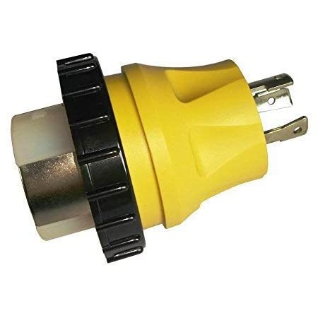 Parkworld 692101 Shore Power Adapter Generator 30A L5-30P Male to Marine 50A SS2-50R Female with Locking Ring