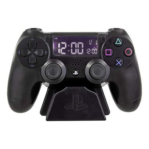 Paladone Playstation Wecker - Controller Design, schwarz - Digitale Uhrzeit, ca. 13 x 17 cm