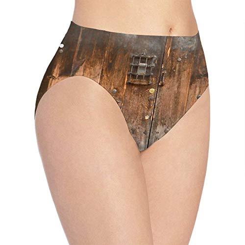 XCNGG Bragas Ropa Interior de Mujer Country Wood Style Rustic Underwear Women Ladies Briefs Comfortable Panties for Women