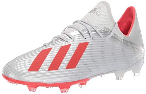 adidas Men's X 19.2 Firm Ground Soccer Shoe, Silver Metallic/hi-res...