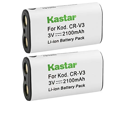 Kastar Battery 2-Pack for CR-V3, Canon PowerShot A60 70 75 300, Nikon Coolpix 600 700 800 950 990 2100 2200 3100 3200, Olympus, Kodak, Sanyo, Pentax Digibino, Casion, Samsung Dig Max