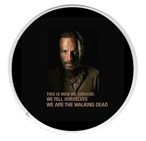 Unique Rick Grimes redondo bebidas taza posavasos con una imagen de Andrew Lincoln de The Walking Dead 'esta es la forma en que sobrevivir: nos dicen que son The Walking Dead'