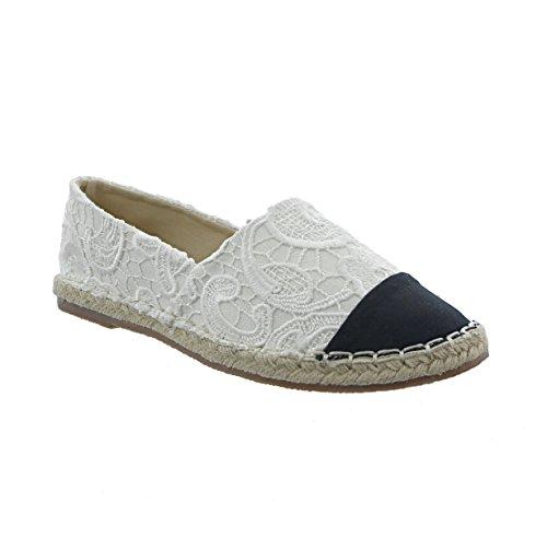 Markenlos - Alpargata Mujer, Color Blanco, Talla 36