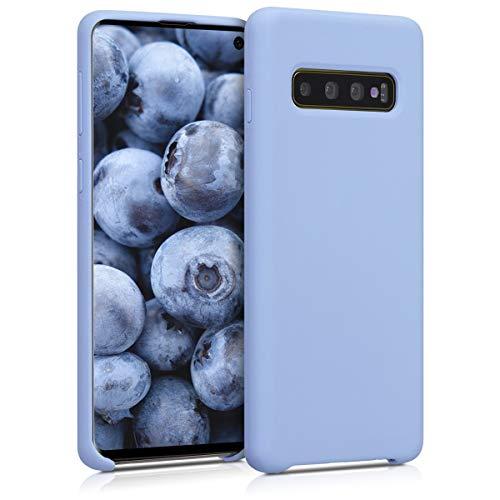 kwmobile Hülle kompatibel mit Samsung Galaxy S10 - Hülle Silikon gummiert - Handyhülle - Handy Hülle in Hellblau matt