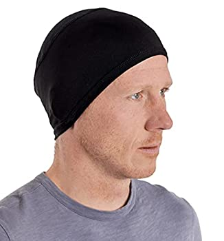 Sweat Wicking Helmet Liner/Cooling Skull Cap for Men with Neck Sun Protection - Helmet & Hard Hat Liner Accessory - UPF 50 Sun Protection Black