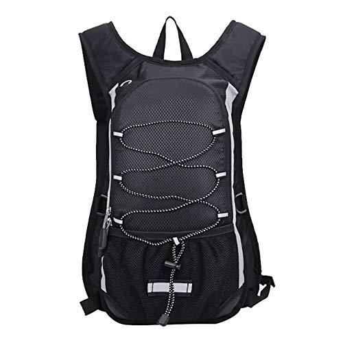 Kolpop MTB Rucksack Damen & Herren, 10L Fahrradrucksack mit Isolierter Innerer Schicht Kompatibel mit 2L Trinkblase Atmungsaktiver und Wasserfest Backpack für Laufen, Wandern, Skifahren