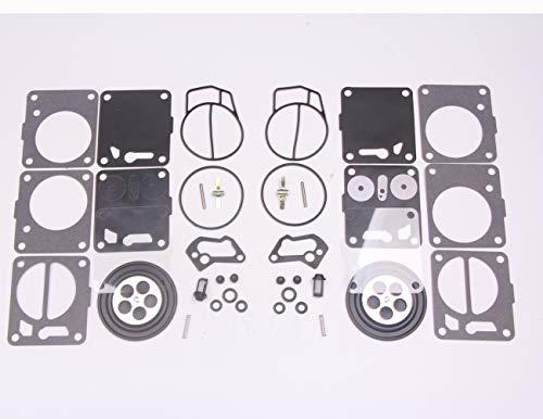 BH-Motor New 2 sets Twin Carburetor Carb Repair Rebuild Kits for Mikuni SeaDoo 50 717 720 787 800 SP GS GTX HX XP SPX GTS