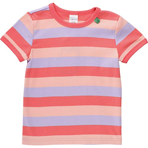Fred'S World By Green Cotton Multi Stripe T Baby T-Shirt, Multicolore (Coral 016164001), 98 Bébé Fille
