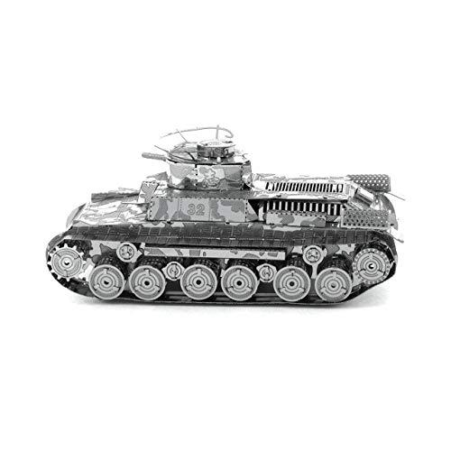 Metal Earth Char de Combat: CHI-HA Tank 7.92x3.48x3.66cm, Maquette 3D en métal avec 2 Feuilles, sur Carte 12x17cm, 14+