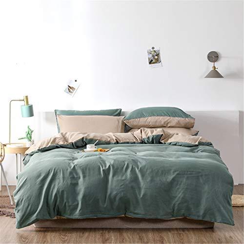 YYSZM Textiles para El Hogar Funda Nórdica Ropa De Cama Juego De 4 Piezas De Moda Atmosférica De Color Sólido Simple 200x230cm