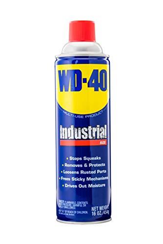 WD-40 Multi-Use Product - Multi-Purpose Lubricant Aerosol Spray - Industrial Size 16 oz. (1 Pack)