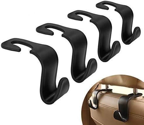 Mysbiker Kopfstützenhalterung Auto Haken 4 Stück Auto Lagerung Haken Rücksitz Kopfstütze Haken Mantel Geldbörse Handtasche Halter Auto