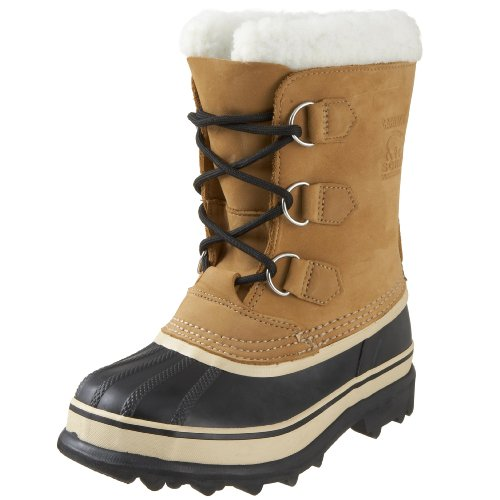SOREL - Youth Caribou Waterproof Winter Boot for Kids with FAUX Fur Snow Cuff, Buff, 6 M US