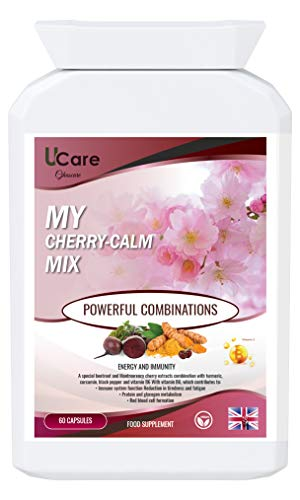 My Cherry Calm Mix // 60 Capsules: Montmorency Cherry and Beetroot Formula, Plus nutritive Allies