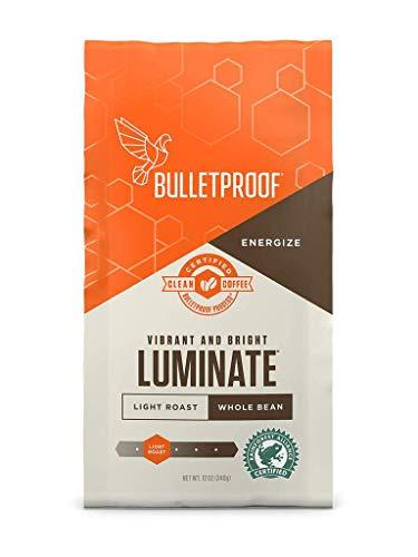 Bulletproof Luminate Ground Coffee, Light Roast, 12 Oz, Keto Friendly, Certified Clean Coffee, Rainforest Alliance, Ground