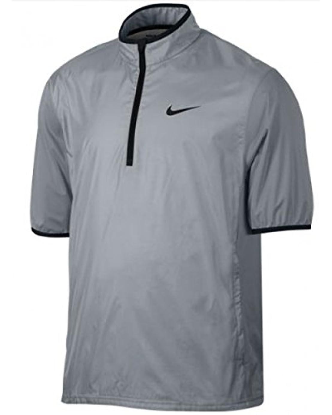 NIKE Golf Closeout Men's Shield Short Sleeve Jacket (Wolf Grey) vvk4235123